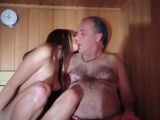 Daddy Fucked Beautiful Cherry Young Pussy Gives Oral job Gaggin