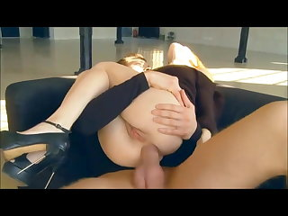 Hard fuck young dame in anal