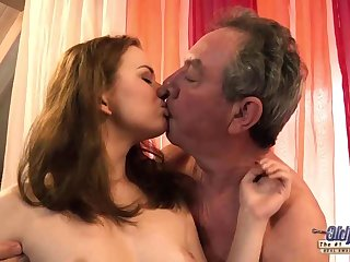 Old and Young Grandpa Humps Teen Babysitter Fingers Virgin