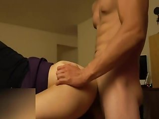 stellar asian arched over fucked and creampied